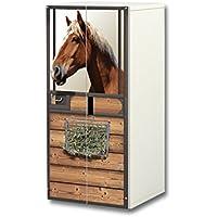 Stikkipix Pferdewelt Aufkleber-Set | SC39 | passend für den Kinderzimmer Schrank STUVA von IKEA (Korpus: 60 x 128 cm) | Möbel Nicht Inklusive preisvergleich bei kinderzimmerdekopreise.eu