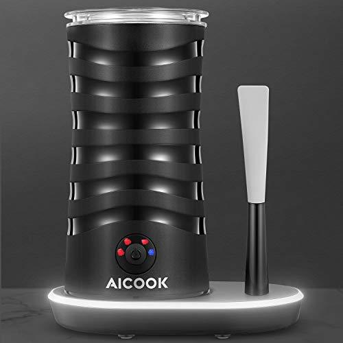 Aicook Espumador/Batidor de Leche, 4 En 1 Espumador para Leche Electrico, Diseño Único En El Mercado...