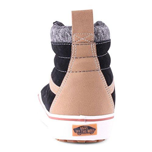 VansU Sk8-Hi Mte - Scarpe da skateboard unisex adulto Nero (Black/Tobacco Brown)