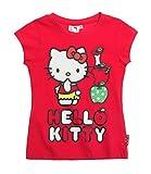 Hello Kitty T-Shirt Kurzarm 3 Verschiedene Motive und 3 Farben zur Auswahl, Farbe:rot, Größe:92