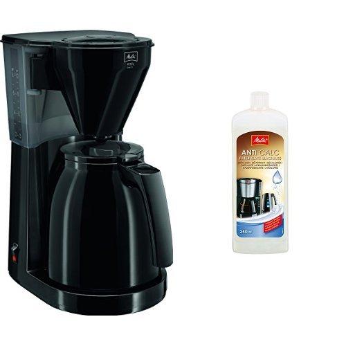 Preisvergleich Produktbild Melitta 1010-06 bk Easy Therm Kaffeefiltermaschine + Melitta 192618 Flüssigentkalker