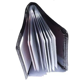 Kreditkartenetui, Echtes Leder, mit Geschenkbox mit 12 abnehmbaren Ärmeln.
