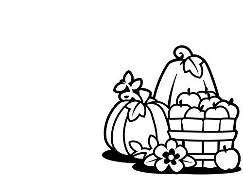 Darice Autumn Embossing Template of Pumpkins in Basket for Halloween and Fall Paper Crafts