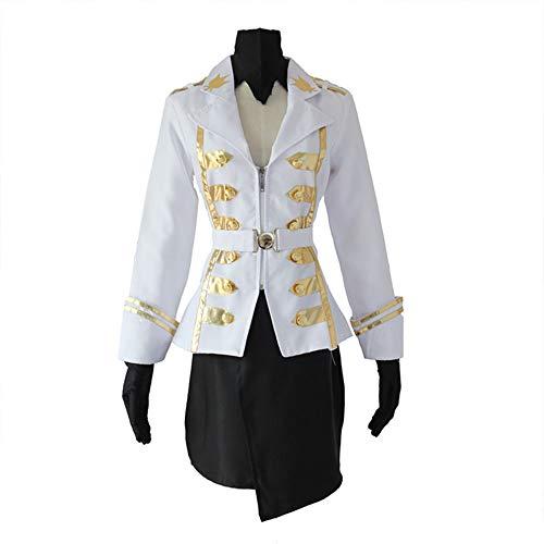 Kostüm Für Erwachsene Goldlöckchen - DXYQT Anime Cosplay Kostüme Mantel Rock Anzug Halloween Kostüme Campus Kleidung Kostüme für Erwachsene Kind Uniform Kleid,White-S
