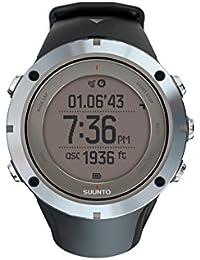 Suunto Herren-Armbanduhr 40mm Armband Kautschuk Schwarz Gehäuse Edelstahl Batterie Digital SS020676000
