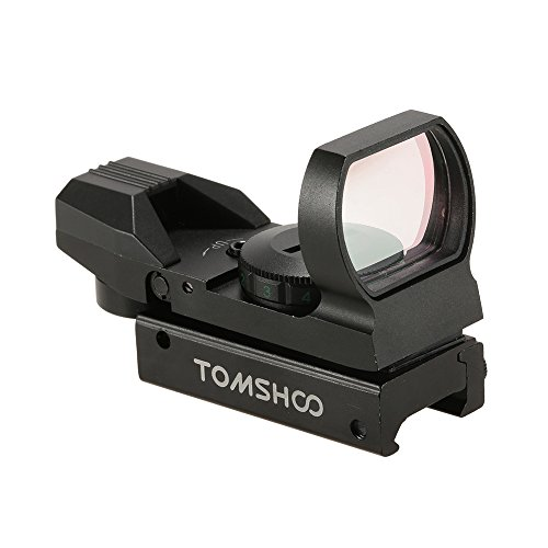 Moa 1 Sight Red Dot (TOMSHOO 1X22X33 Rot Grün Dot Anblick Zielvisier Punkt Zielfernrohr Zielgerät mit 20mm Schiene mit 4 Absehen zur Auswahl)