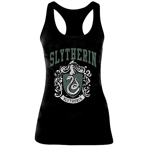 Damen Tanktop Harry Potter–Slytherin, Old School Schwarz - Schwarz