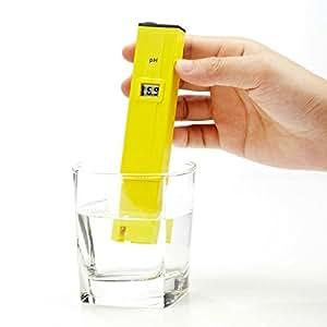 Dr.Meter® Misuratore di PH ad alta accuratezza, tascabile, a forma di penna con ATC (Compensazione di Temperatura Automatica), LCD, Range di Misurazione 1-14 pH, Risoluzione 0,1