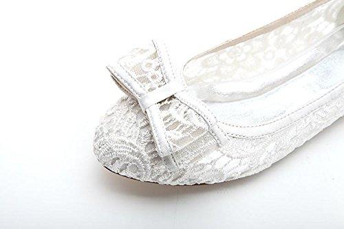 LEI&LILadies dentelle Spot sur chaussure Style ballerine / détails chaussures de mariage en dentelle pink