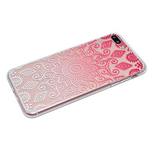 iPhone 7 Plus Cover , YIGA Moda Gattino Trasparente Silicone Morbido Dolce TPU Case Protezione Shell Custodia per Apple iPhone 7 Plus 5.5 XX38