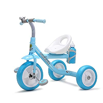 Jiamuxiangsi Bicycle Baby Balance Bicycle Child Tricycle Infant Baby Bicycle Child Toy Car Stroller Bicycle First Bicycle Birthday Gift Bicycle Baby (Color : Blue)