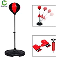 Boxing Punching Bag, Adjustable Free Standing Punch Bag Speed Ball Adults Kids Boxing Set with Gloves and Hand Pump, Height Adjustable 70-105 cm (For Kids)