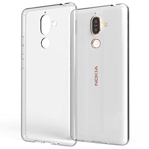 NALIA Handyhülle kompatibel mit Nokia 7 Plus, Soft Slim TPU Silikon Case Cover Crystal Clear Schutzhülle Dünn Durchsichtig, Etui Handy-Tasche Backcover Transparent, Smart-Phone Schutz Bumper