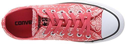 Converse - Chuck Taylor Bandana Prt, Sneaker da donna Rosso (Rouge)