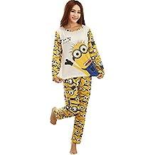 Qumei Parejas Minion Establece pijama hombres y las mujeres dormir