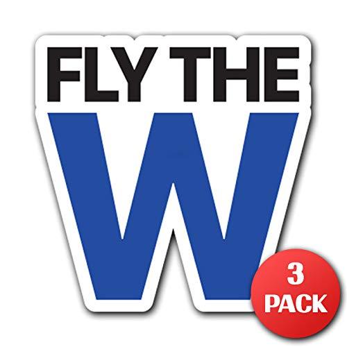 Fliegen Das W der Chicago-[customi] Aufkleber Aufkleber für Auto Truck MacBook Laptop Air Pro Vinyl 4.7 in x 4.7 in (12 cm x 12 cm) (Michael Case Jordan Ipad Air)