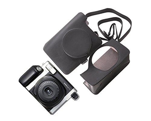 DSstyles Retro Bolso de Cuero de PU para Fujifilm Instax WIDE 300 Camera - Negro