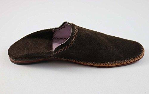 ChiCies Babouche Aus Marokko - Herren Hausschuhe Aus Leder Handarbeit Braun