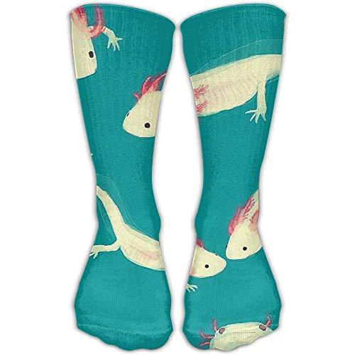 Benutzerdefinierte lustige Strümpfe HUE Familie Axolotl Neuheit Crew bunte Muster Knöchel Kleid Mädchen Jungen Knie lange Socken -