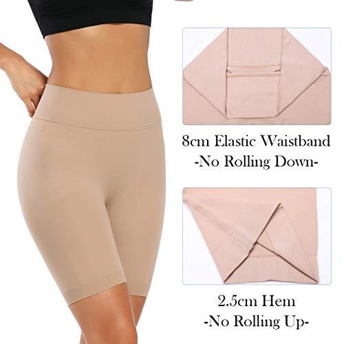 Joyshaper Miederhose Bauch Weg Stark Formend Shapewear Damen Miederpants mit Bein Hohe Taille Figurformende Shaping Unterwäsche (Beige, Large) - 3