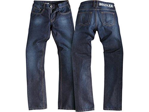 Motorradjeans Rokker Revolution Lady Jeans Denim blau WASSERDICHT, 34-34 - Womens Revolution