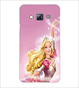 PrintDhaba Barbie Doll D-1015 Back Case Cover for SAMSUNG GALAXY A3 (Multi-Coloured)
