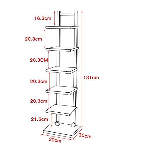 MDD Regal Bücherregal Leiste Einheit Großer Speicher Schwebend Offenes Regal Regal Turm 9 Farbe Rack Platzsparend und einfach zu installieren,Weißer Ahorn (Ahorn-speicher)