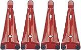 stabiler Universal - Wandhalter für Feuerlöscher Handfeuerlöscher, Pulverlöscher, Schaumlöscher, Löscher oder CO2-Löscher für die Wandbefestigung (4, Rot)