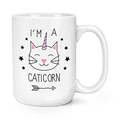 I'M A CATICORN 443.6 ml PODEROSO TAZA - Unicornio Animal Gato Mágicos Divertido Estrellas