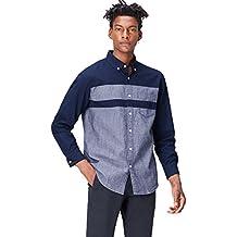 FIND Camisa Vaquera de Manga Larga para Hombre