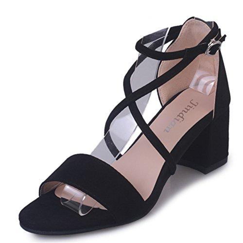 Mode coréenne Joker shoes/loisirs daim à talons hauts sandales A