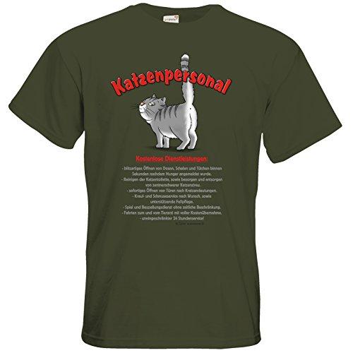 getshirts - RAHMENLOS® Geschenke - T-Shirt - Katzenservice - Kostenlose Dienstleistungen Khaki