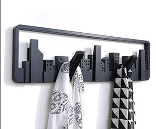 Divinext European Creative Wall Hooks Hangers Coat Rack Scalable Coathook Wall Shelf Hook