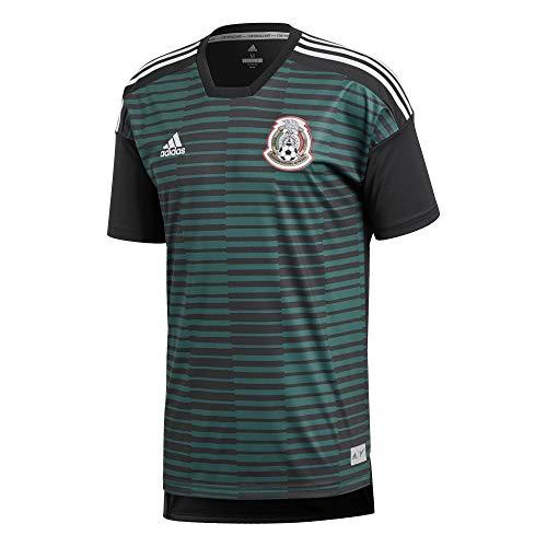 Adidas México de Pre Match Camiseta, Todo el año, Hombre, Color Cgreen/Black, tamaño Extra-Small