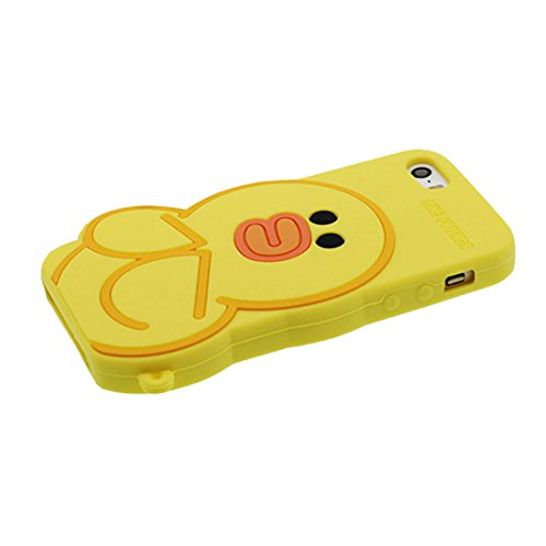 iPhone 5S Coque, [ Flexible TPU Material Popcorn ] Étui pour iPhone 5G SE 5C 5, Dust Slip Scratch Resistant, Case élégant souple durable jaune 1