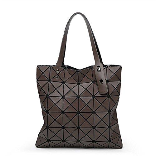 Mefly La nuova borsa di piegatura Lingge Bangalor Fashion borsetta grigio scuro Coffee