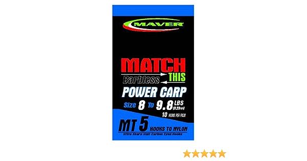 Maver match This MT5 and MT 6 hooks to Nylon