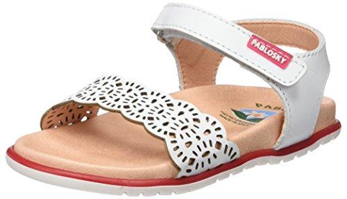 Pablosky 443500, Sandales fille Blanc