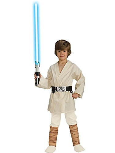Star Wars Deluxe Luke Skywalker Kostüm Kinderkostüm Science Fiction Gr. S - L, Größe:S