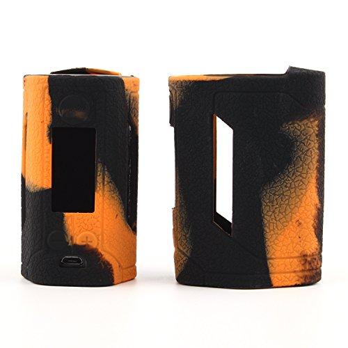 CEOKS Schutzhülle Silikon Hülle für Wismec Reuleaux RX GEN3 300W TC Mod Sleeve Case Skin Cover Schützende Silikon-Hülle-Abdeckungs-Verpackungs-Haut für Wismec Reuleaux RX GEN3 300W kit Box shield Orange / Schwarz -