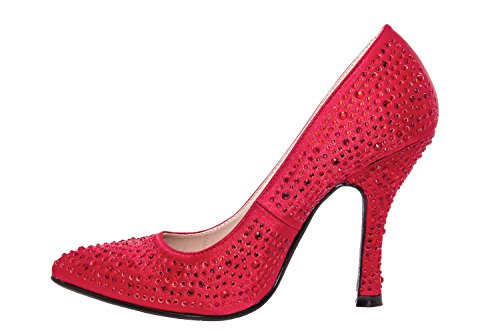 Andres Machado - AM591 - Damenschuhe in Soft Multifarbe Satin Rot