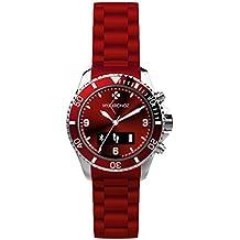 MyKronoz ZeClock - Reloj inteligente, color rojo