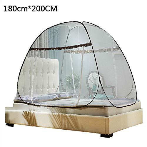 - Pop-Up-Moskitonetz, groß für Twin bis Kingsize-Bett-Baldachin für Betten, Faltendes Design mit Boden ()