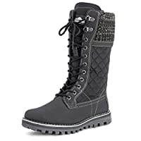 POLAR Womens Snow Durable Outdoor Thermal Winter Warm Waterproof Mid Calf Boot