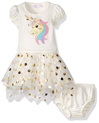 Bonnie Jean Festliches Einhorn Baumwollkleid Sommerkleid Baby Mädchen Kleid Gr. 74,80,86,92,98,104,110,116,122 Größe 80 (Bonnie Jean Kleidung)