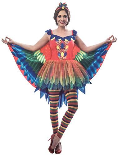 Papagei Für Kostüm Erwachsene - Brandsseller Damen Kostüm Papagei Verkleidung Karneval Party Fasching Junggesellinnenabschied L/XL