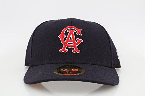 New Era 59Fifty LoPro Wool Angels Cap Kappe MLB Los Angeles LA Basecap Baseballcap Fitted Flat Brim Cap Basecap (7 1/8 (56,8cm) - dunkelblau) -
