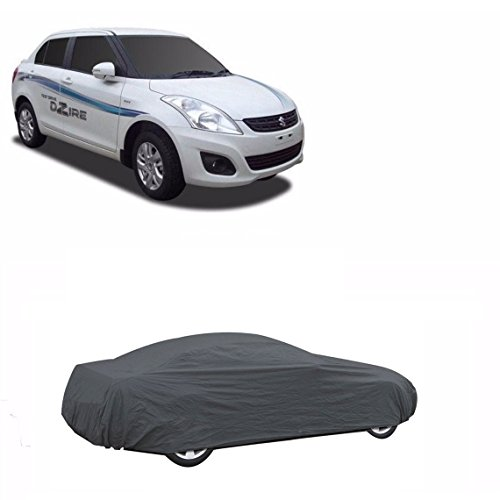 MotRoX Sporty Grey Car Body Cover For Maruti Suzuki Swift Dzire (Tirpal & Triple Stiched)  available at amazon for Rs.799
