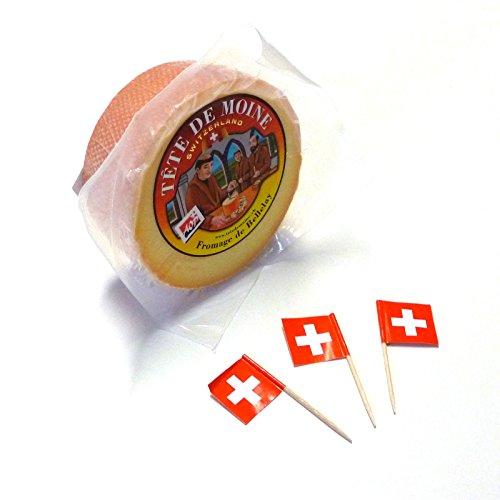 Tete de Moine - Formaggio a testa di monaco semilavorato, sigillato Tete de Moine, circa 400 g, sigillato in pellicola (formaggio a testa di monaco) ORIGINAL. Nell'originale Svizzera Jura gli hanno inventato i monaci del monastro Bellelay molte centi...