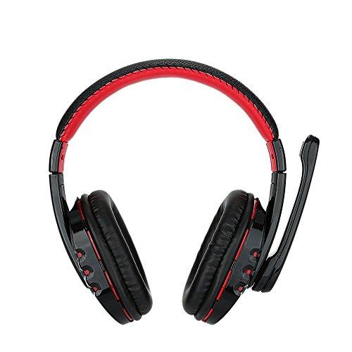 Andoer® V8 Hochwertiger Professioneller Drahtloser Bluetooth 3.0 Gaming Headset Kopfhörer Ohrhörer Freisprechen Verstellbarer Stirnband mit Mikrofon für PS3 Smart Phones DesktopNotebook Tablette PC (3,5 Unzen Tablette)